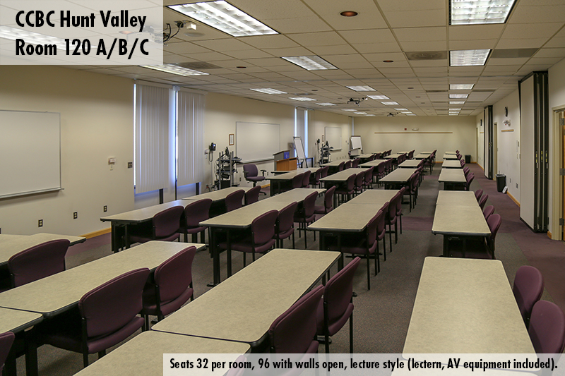 Classroom photo of Hunt Valley room 120 ABC