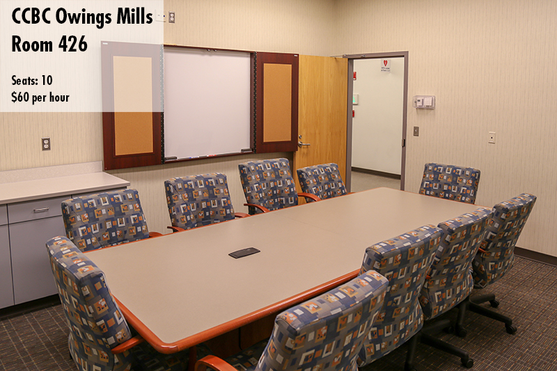 Photo of Owings mills conference room 426