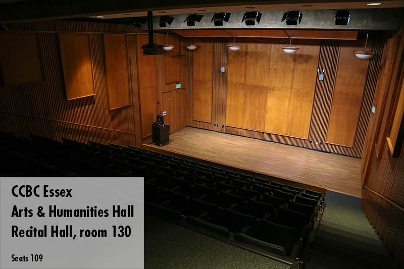 Photo of the CCBC Essex recital hall