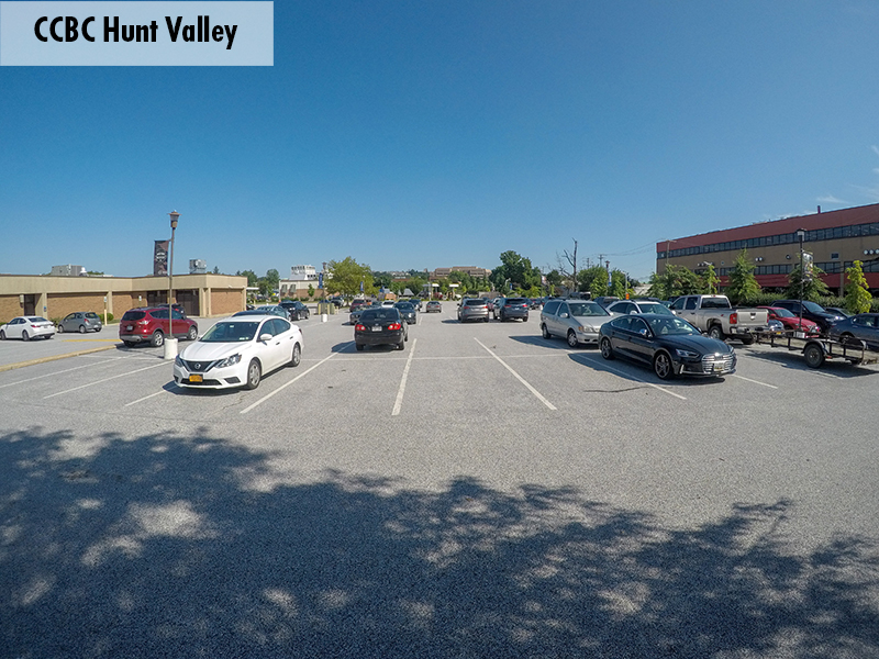 Photo of the CCBC Hunt Valley parking lot
