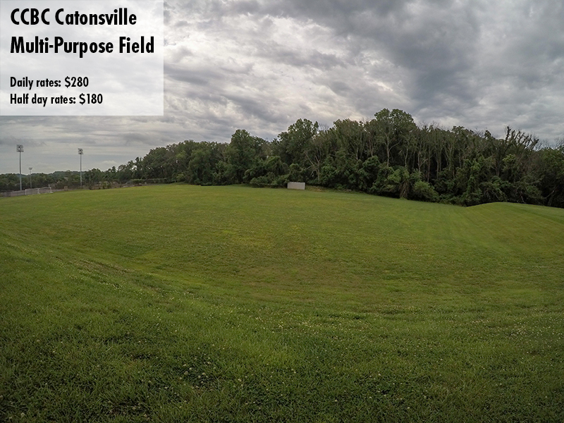Photo of the CCBC Catonsville Multi-purpose field. Daily rates: $280 Half day rates: $180