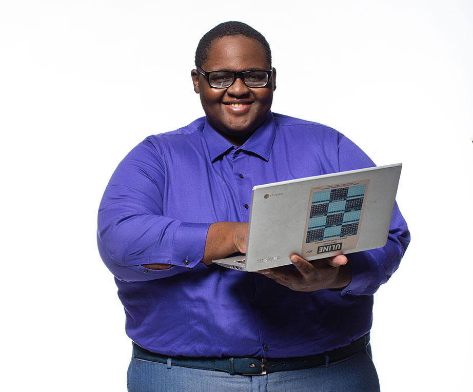 Larry Alston – Computer Science major and College Promise scholar.