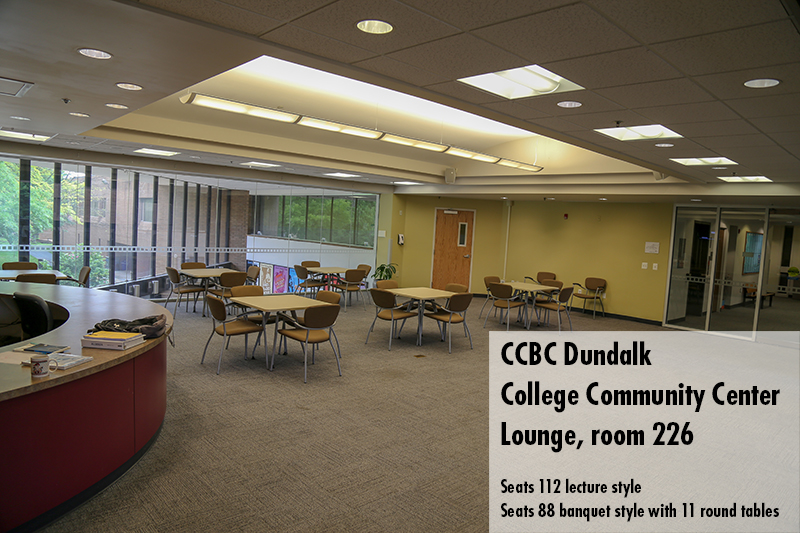 Photo of the CCBC Dundalk College Community Center lounge 226