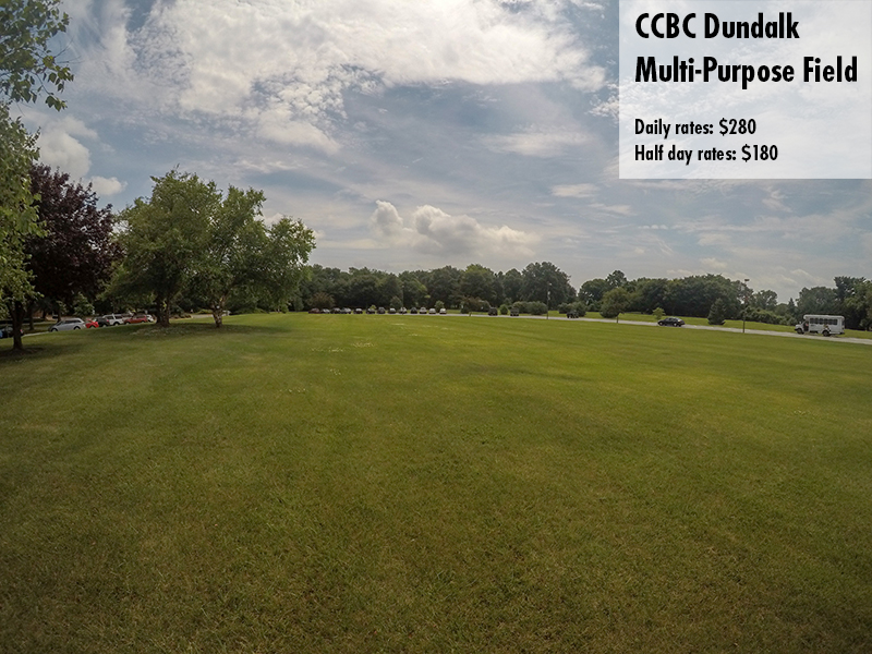 Photo of the CCBC Dundalk Multi-purpose field. Daily rates: $280 Half day rates: $180