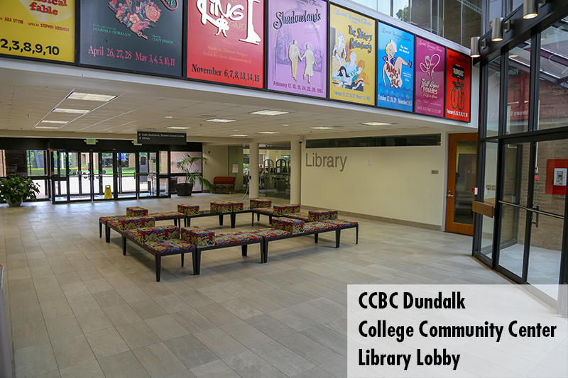 Photo of the CCBC Dundalk College Community Center library lobby