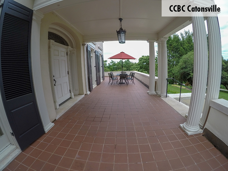Photo of one of the CCBC Catonsville courtyards