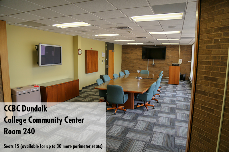 Photo of CCBC Dundalk College Community Center room 240