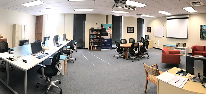 Photo of the Center for Adjunct Faculty Engagement room