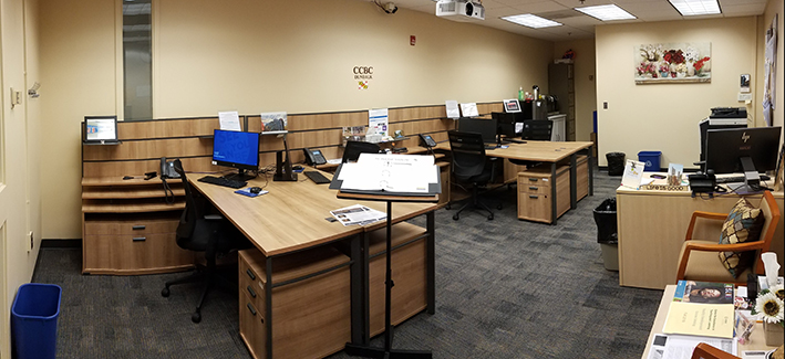 Photo of the Center for Adjunct Faculty Engagement room at the Dundalk campus