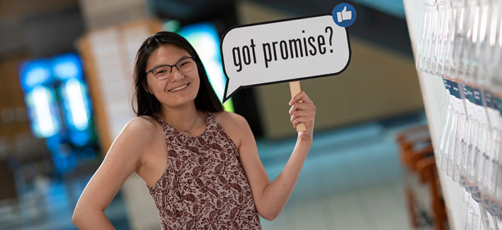 photo of CCBC student Ruby Sprehe who is a college promise recipient