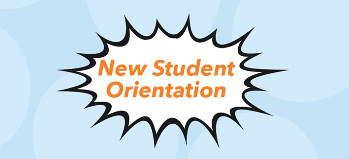 New student orientation graphic