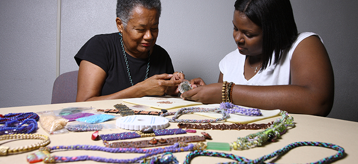 Two CCBC students create beautiful jewelry