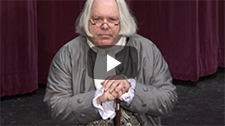 YouTube thumbnail of Dr. Benjamin Franklin interpreted by David Fisher