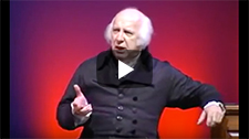 YouTube thumbnail of historical actor John Douglas Hall portraying President James Madison