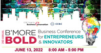 Promo image for the Be more bold business conference on June 11, 2021