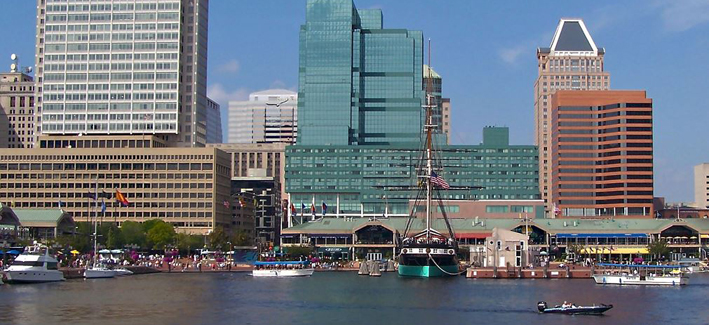 Baltimore city harbor