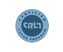 CRLA certified tutoring program logo.