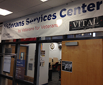 Photo of the front of the Veteran Services Center