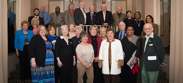 Group photos of donors at the CCBC Scholarship Luncheon