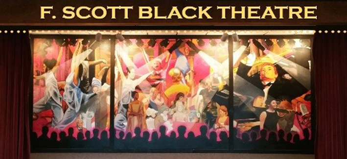 Photo of the front of the F Scott Black Theatre