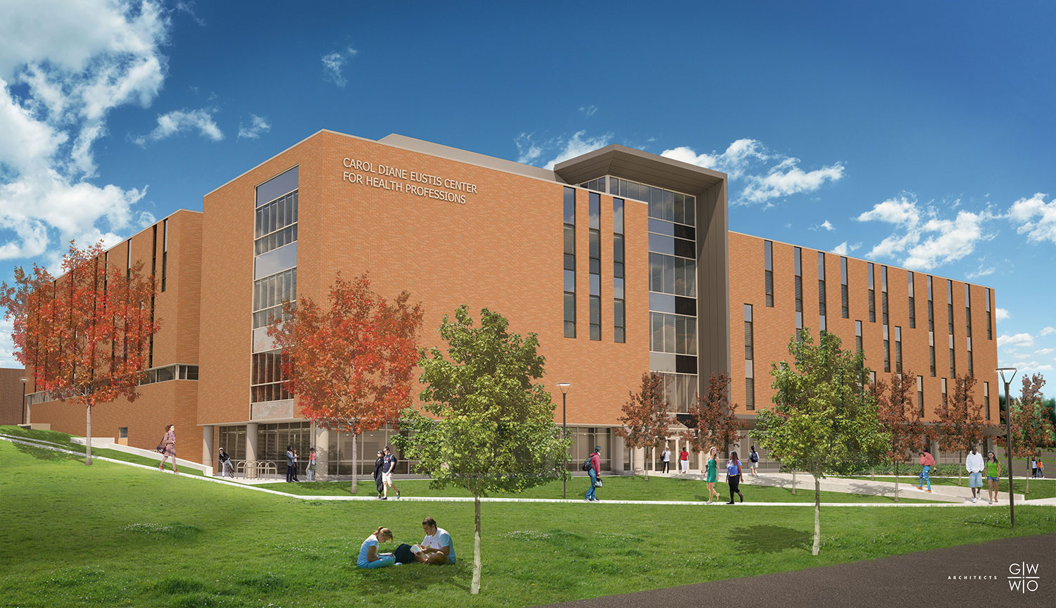 image of the proposed look for the new carol health professions building
