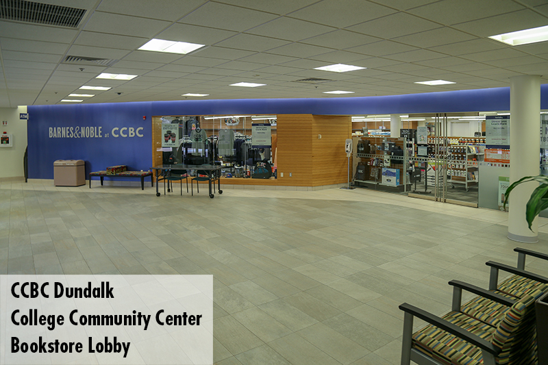 Photo of the CCBC Dundalk College Community Center bookstore lobby