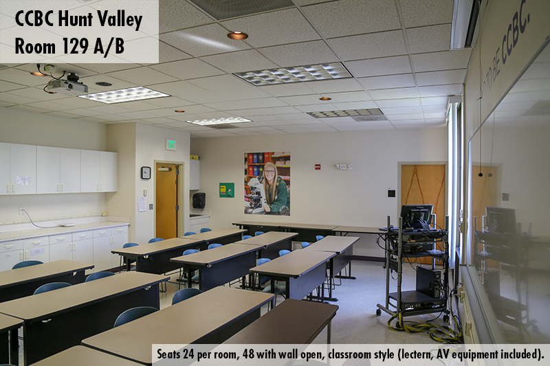 Classroom photo of Hunt Valley room 126