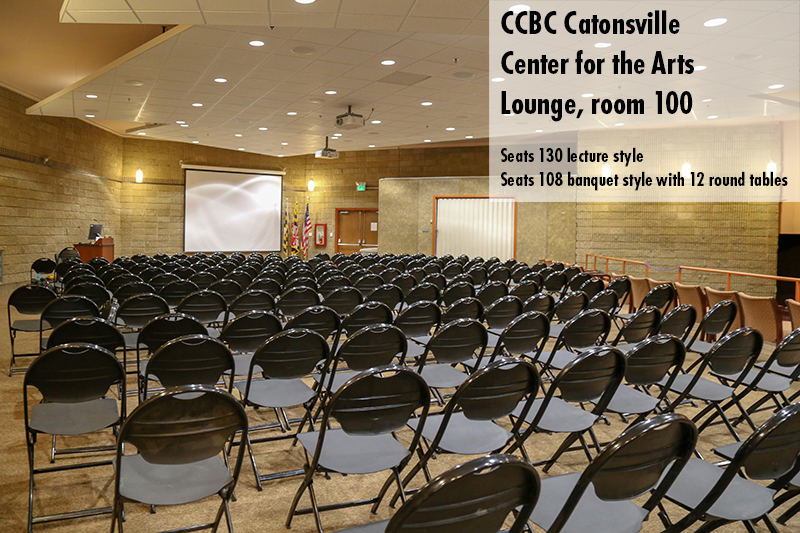 Photo of the CCBC Catonsville Center for the Arts lounge